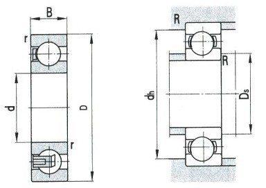 Deep Groove Ball Bearing D 1250-1700mm