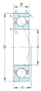 Angular Contact Ball Bearing D 10-60mm