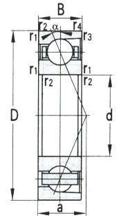 Angular Contact Ball Bearing D 380-1250mm
