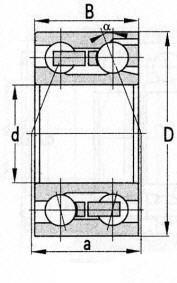 Double Row Angular Contact Ball Bearing D 320mm