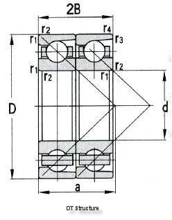 Angular Contact Ball Bearing In Pairs D 30-1320mm