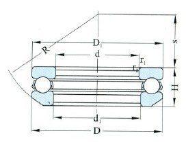 Single Direction Thrust Ball Bearings D 10-130mm