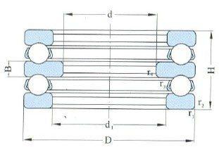 Double Direction Thrust Ball Bearings D 85-570mm