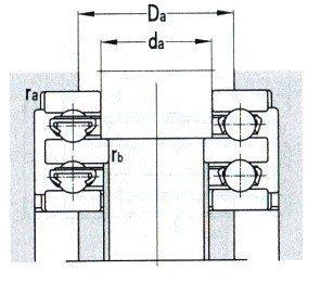 Double Direction Thrust Ball Bearings D 570-1049.5mm