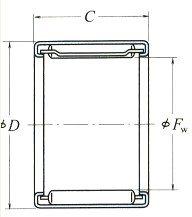 Drawn Cup Needle Roller Bearings Inscribed Circle Diameter 4-55mm