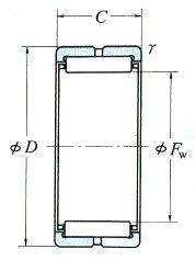 Solid Needle Roller Bearings Inscribed Circle Diameter 63-390mm
