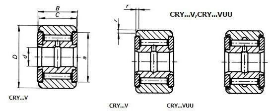 Yoke Type Track Rollers(Inch) Yoke Type Track Rollers(Inch)